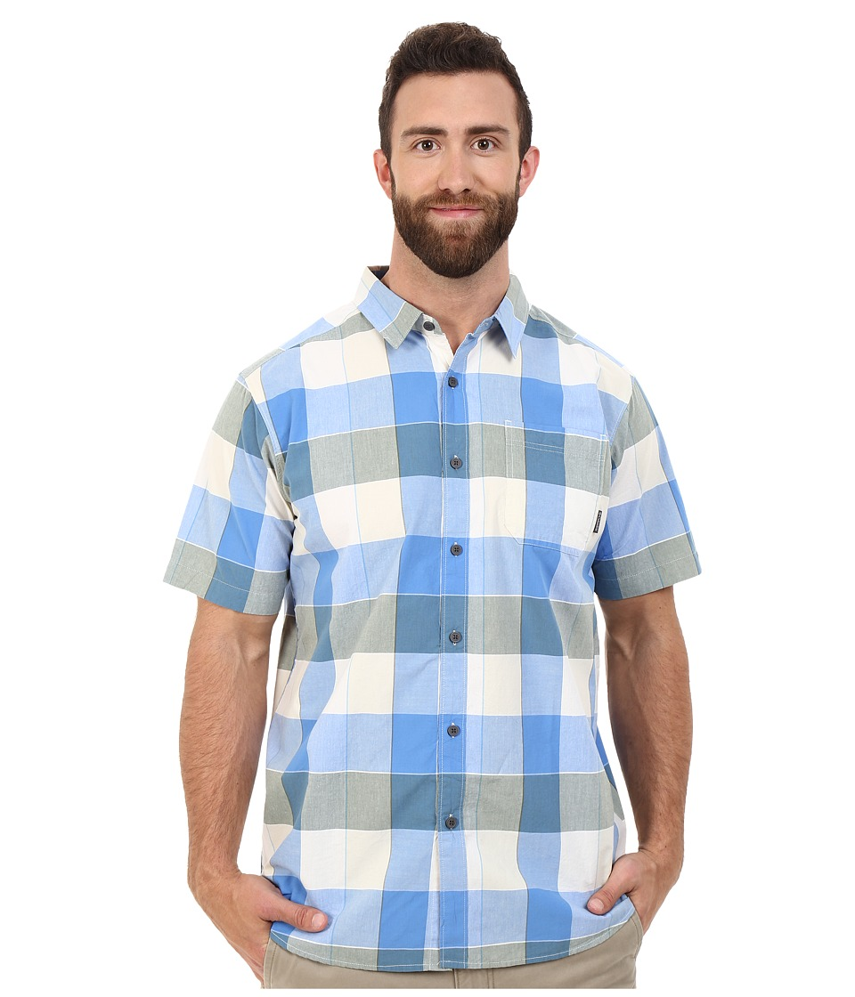 Columbia - Plus Size Thompson Hill II Yarn Dye Shirt (Blue Sky Large Plaid) Men's Short Sleeve Button Up