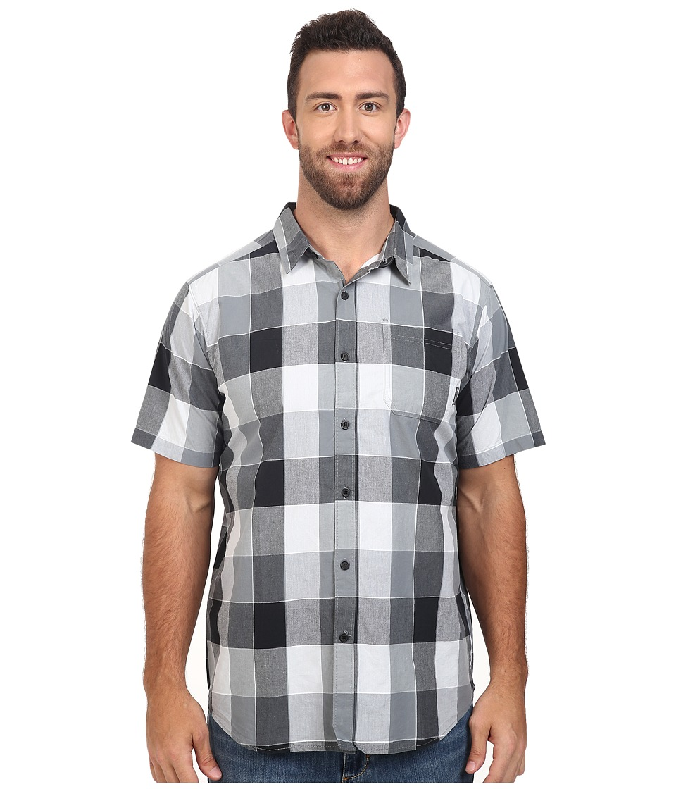 Columbia - Plus Size Thompson Hill II Yarn Dye Shirt (Black Large Plaid) Men's Short Sleeve Button Up
