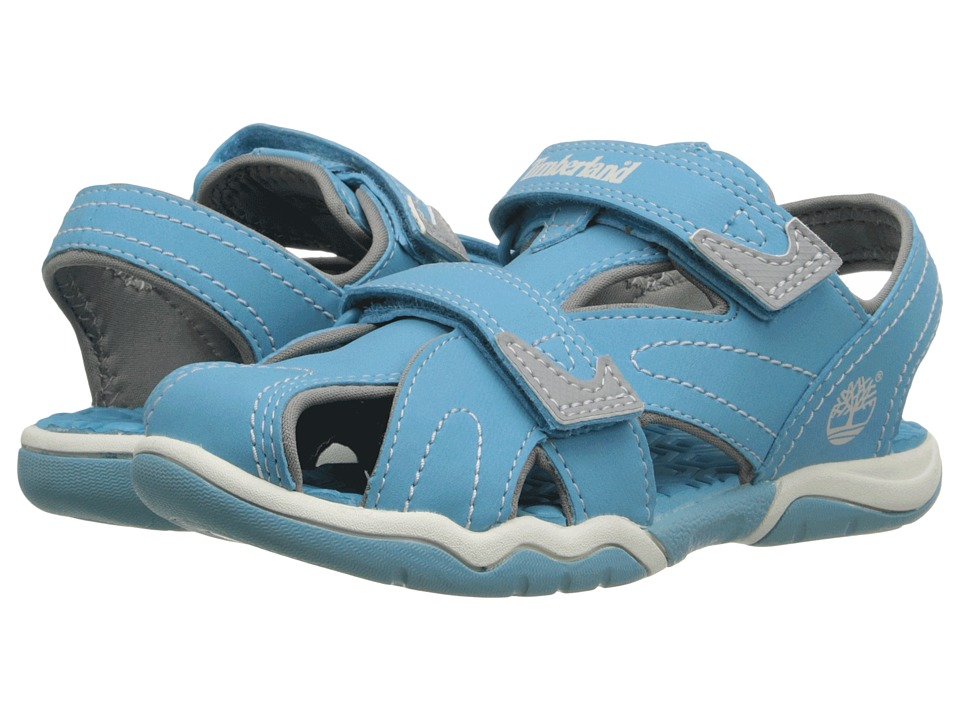 Timberland Kids - Adventure Seeker Closed Toe Sandals (Toddler/Little Kid) (Lite Blue) Kid's Shoes