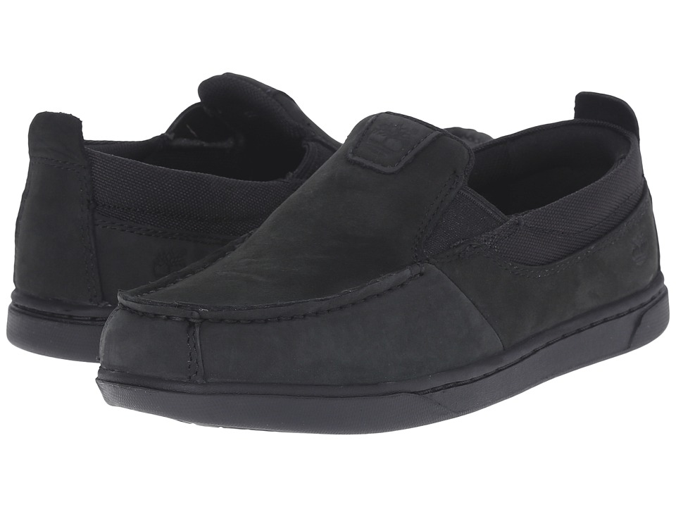 Timberland Kids - Groveton Fabric and Leather Slip-On (Little Kid) (Blackout) Boys Shoes
