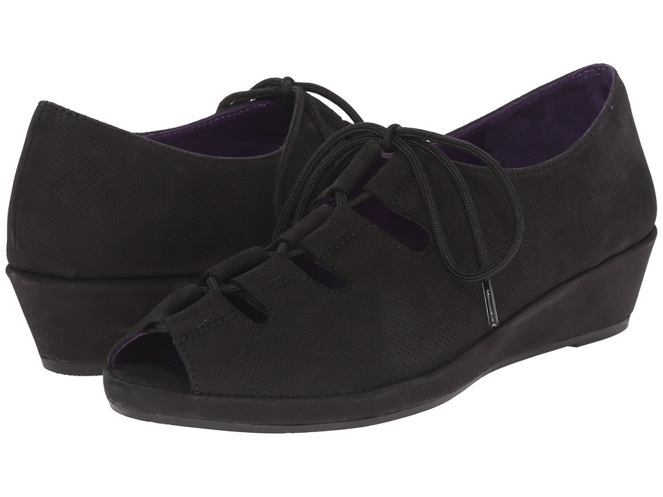 Vaneli Disko (Black Perf Soft Nabuk/Black Soft Nabuk) Women