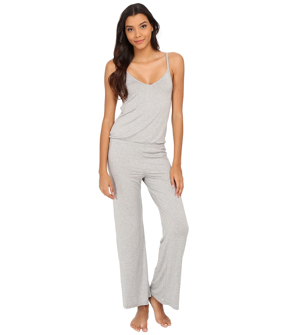 Splendid - Long Romper (Medium Heather Grey) Women's Jumpsuit & Rompers One Piece