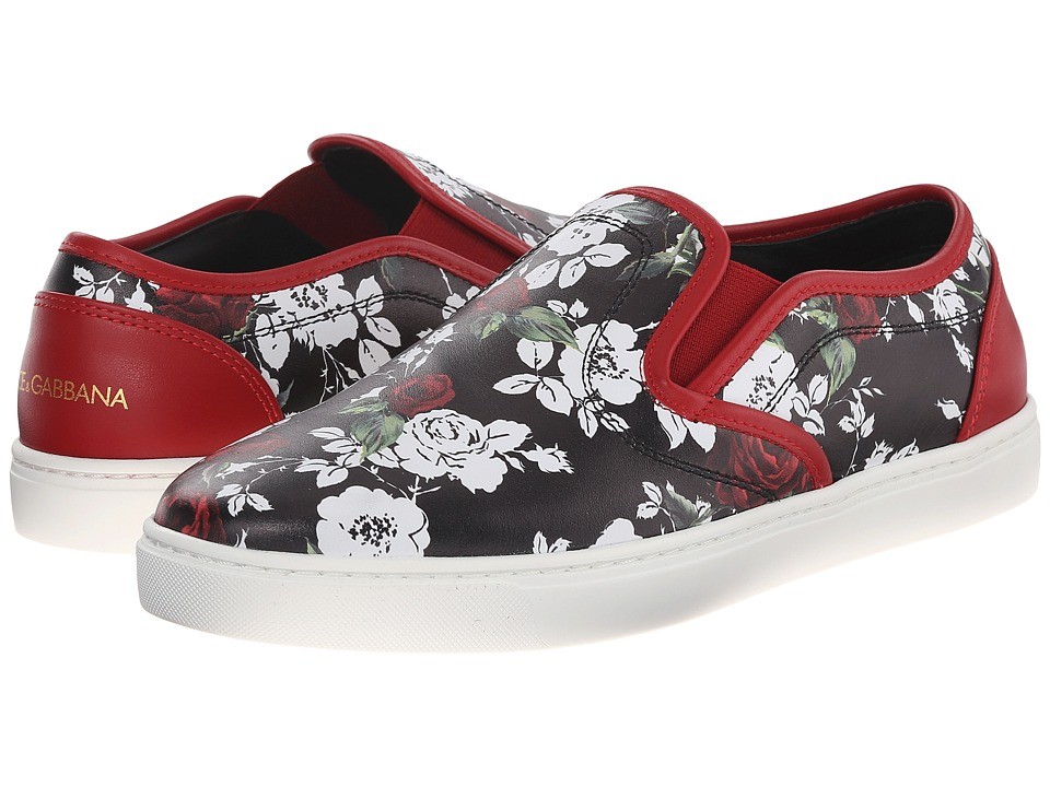 Dolce & Gabbana - Sneakers (Rose Nero/Bianco/Rosso) Women's Slip on Shoes