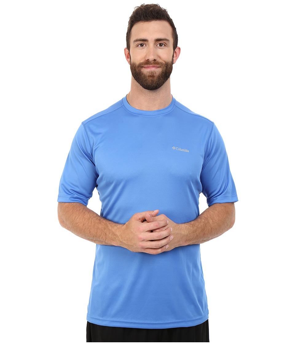 Columbia - Big Tall Meeker Peak Short Sleeve Crew (Pacific Blue) Men's Short Sleeve Pullover