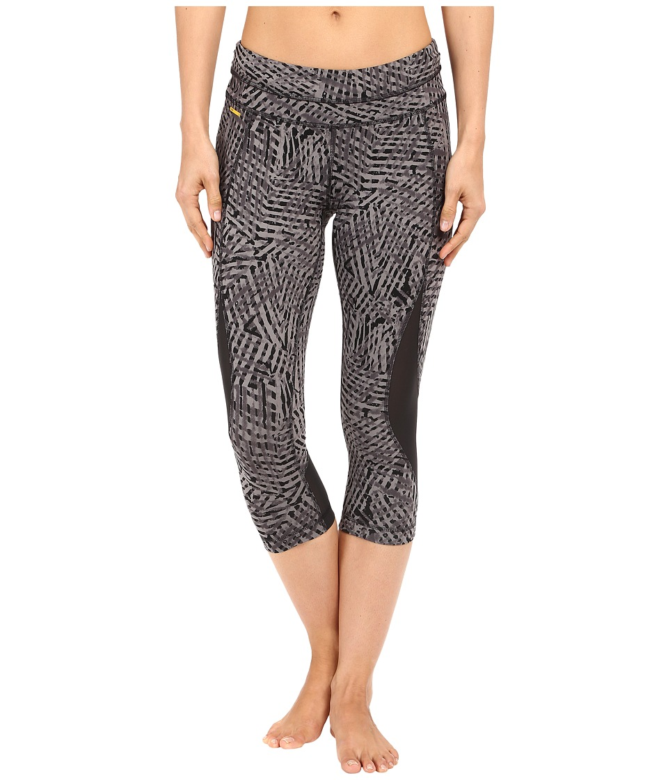 Lole Run Capris (Black Foliage) Women