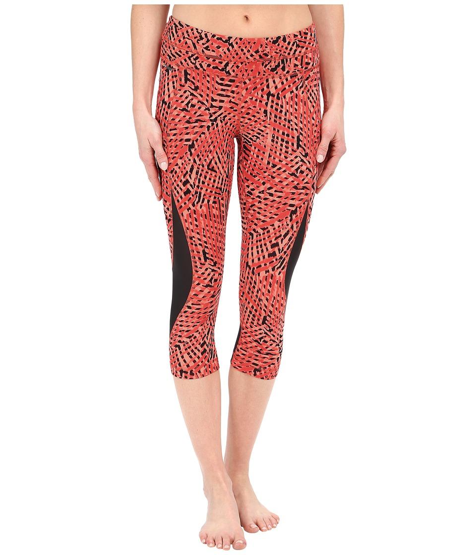 Lole - Run Capris (Ruby Foliage) Women's Casual Pants