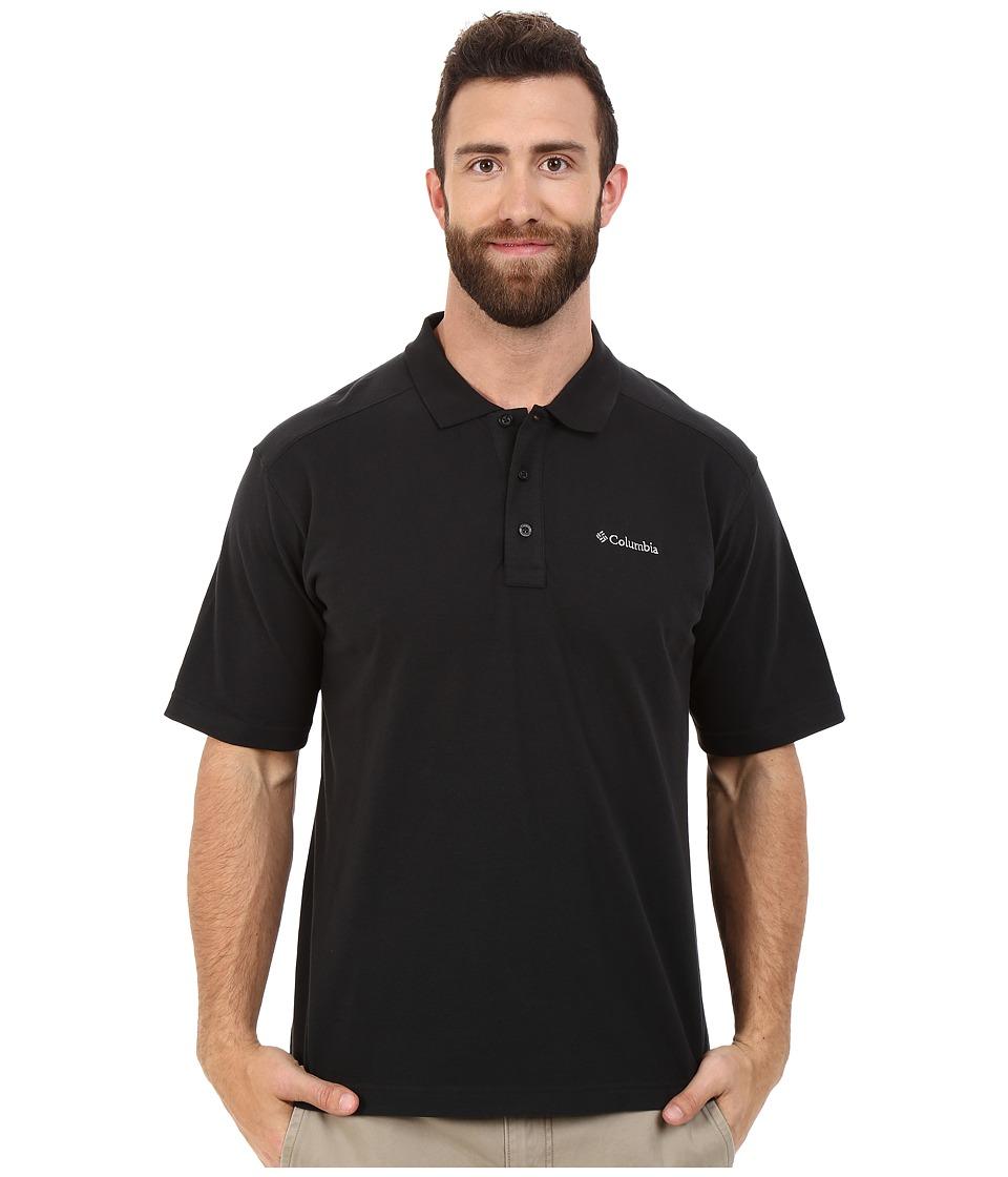 Columbia - Plus Size Elm Creek Polo (Black) Men's Short Sleeve Knit