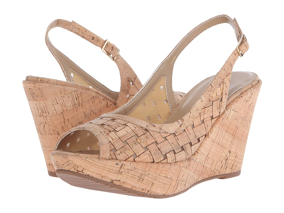 Vaneli - Elissa (Natural Wicker Cork/Beige Mesh/Natural Cork) Women's Wedge Shoes
