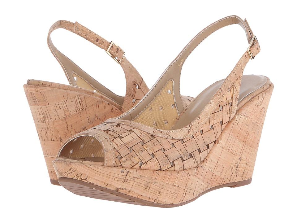 Vaneli - Elissa (Natural Wicker Cork/Beige Mesh/Natural Cork) Women's Wedge Shoes