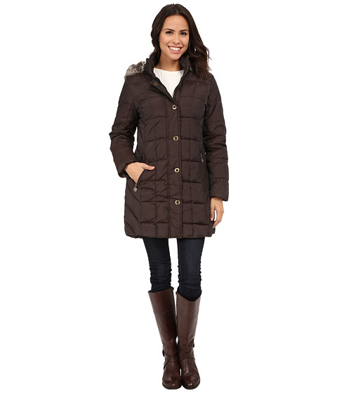 Anne Klein - 3/4 Fly Front Down w/ Snaps (Bronze) Women's Coat
