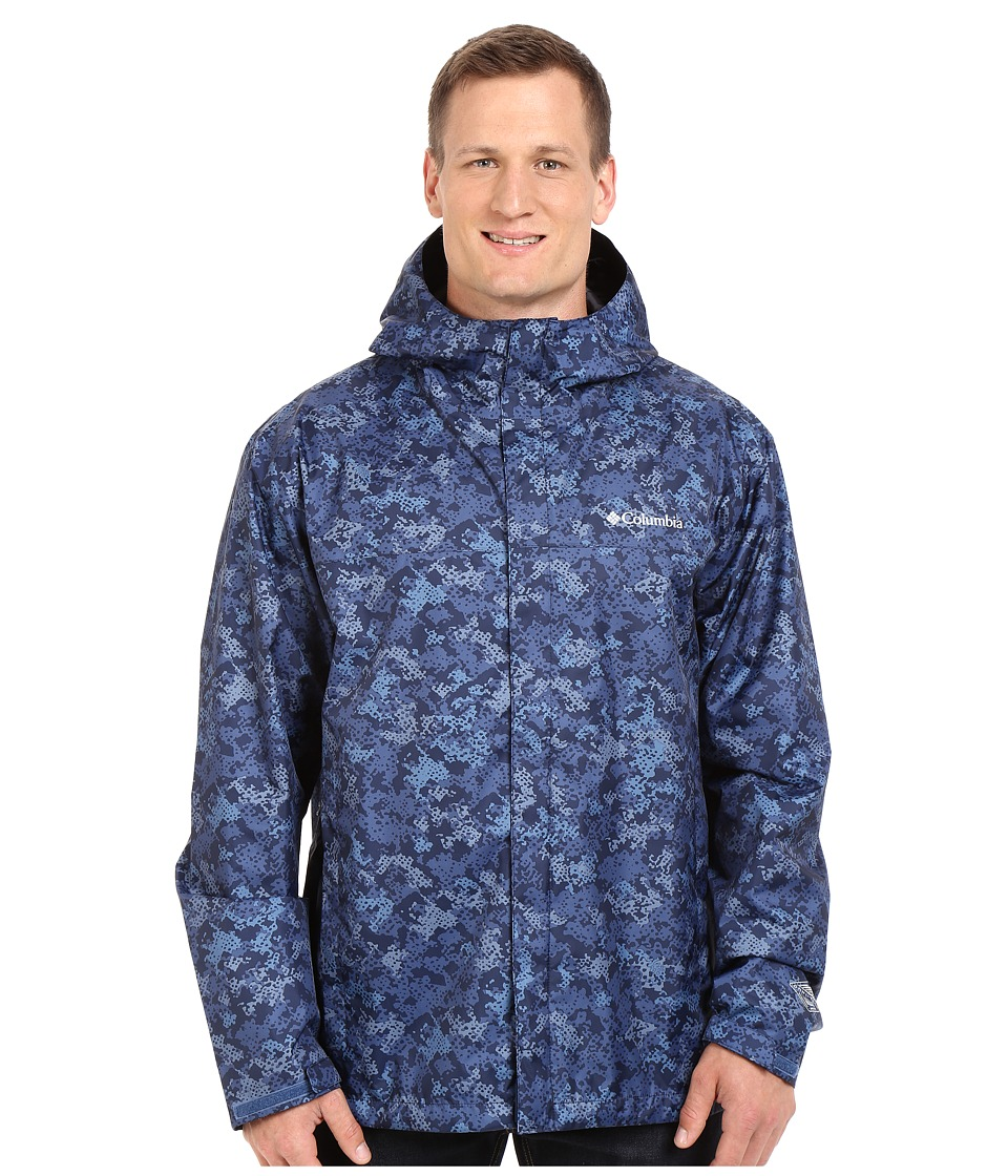 Columbia - Big Tall Watertighttm Printed Jacket (Night Tide Digital Camo) Men's Coat