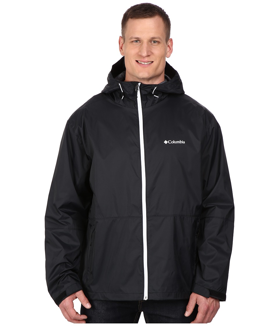 Columbia - Plus Size Roan Mountain Jacket (Black/White Zip) Men's Coat
