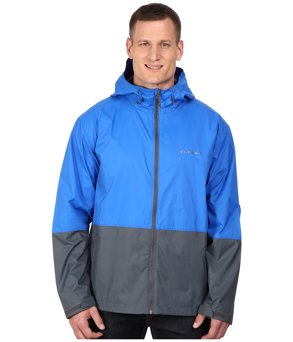 Columbia - Plus Size Roan Mountain Jacket (Super Blue/Graphite) Men's Coat