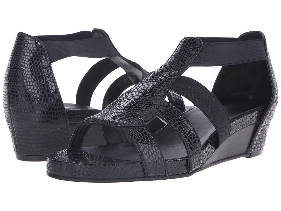 Vaneli - Kamlyn (Black Naif Print/Match Elastic) Women's Sandals