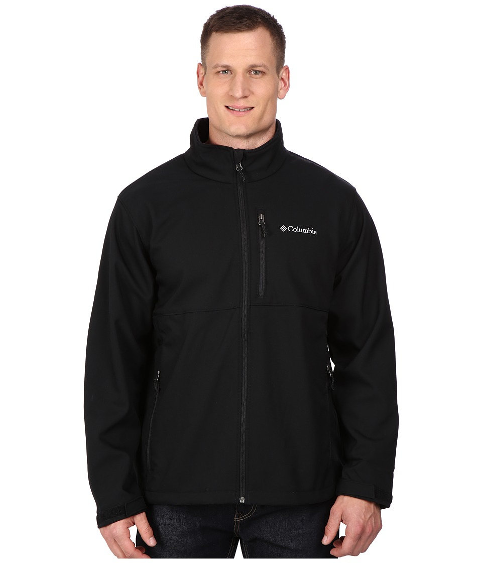 Columbia - Plus Size Ascendertm Softshell Jacket (Black) Men's Coat