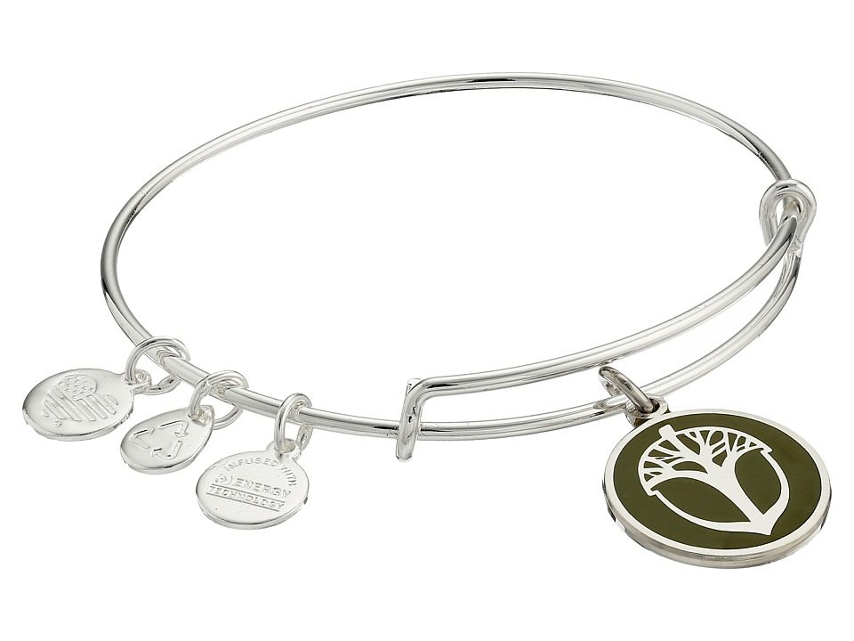 Alex and Ani - Color Infusion Unexpected Miracles Expandable Bangle (Silver/Avocado) Bracelet