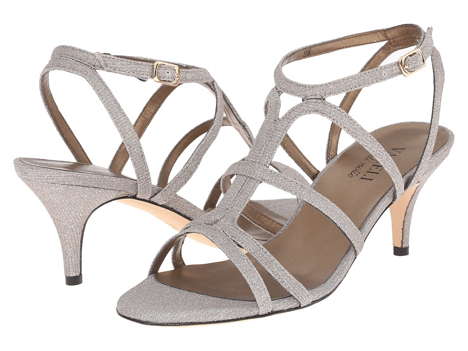 Vaneli - Lamar (Platino Gemy Sarg Fabric/Gold Buckle) Women's 1-2 inch heel Shoes