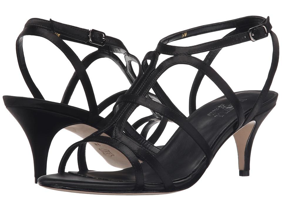 Vaneli - Lamar (Black Satin Fabric/Gunmetal Buckle) Women's 1-2 inch heel Shoes