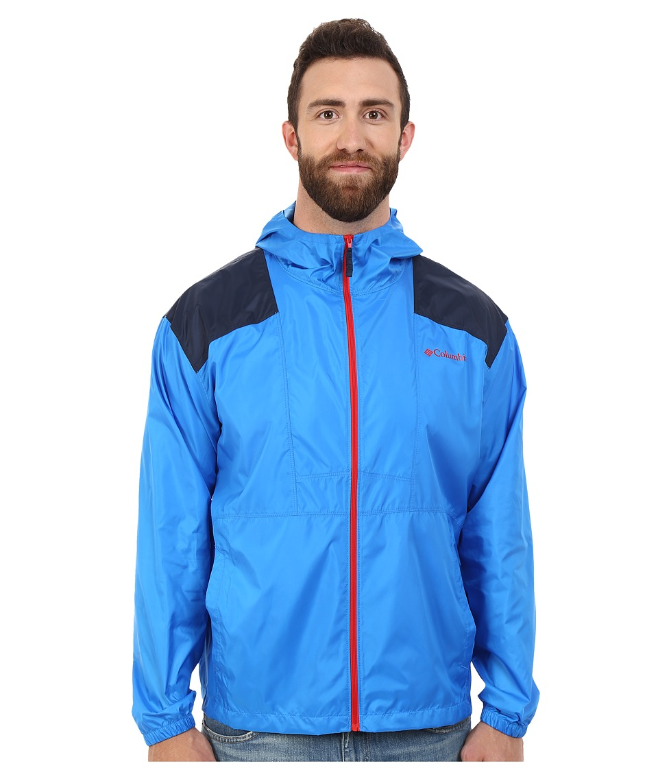 Columbia - Plus Size Flashback Windbreaker (Hyper Blue/Collegiate Navy) Men's Coat