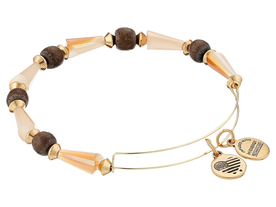 Alex and Ani - Depths of the Wild Seeds of Promise Expandable Bangle (Gold/Caramel) Bracelet