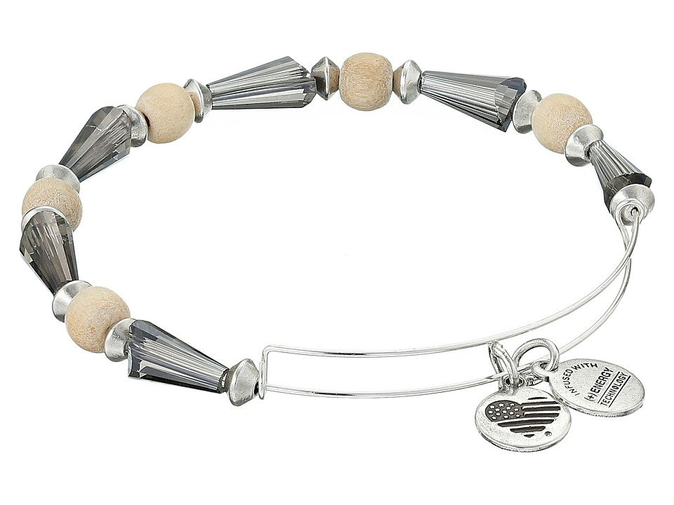 Alex and Ani - Depths of the Wild Seeds of Promise Expandable Bangle (Silver/Cirrus) Bracelet