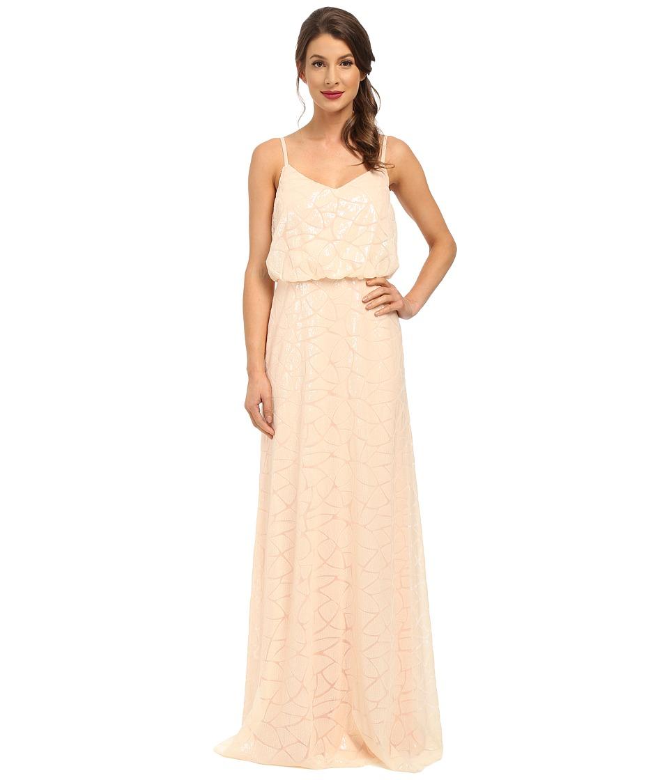 Donna Morgan - Blouson Sequin Gown (Apricot) Women's Dress