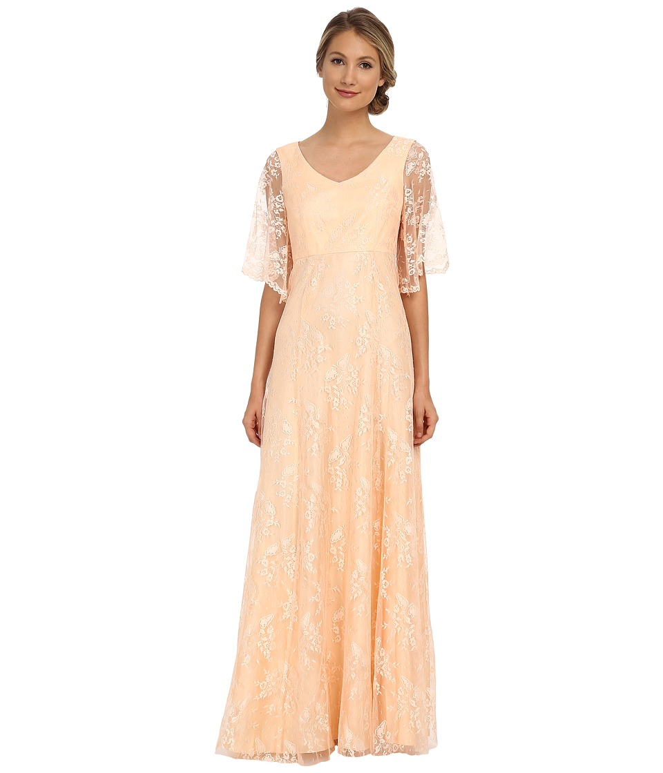 Donna Morgan - Lace with Sleeve (Apricot) Women's Dress