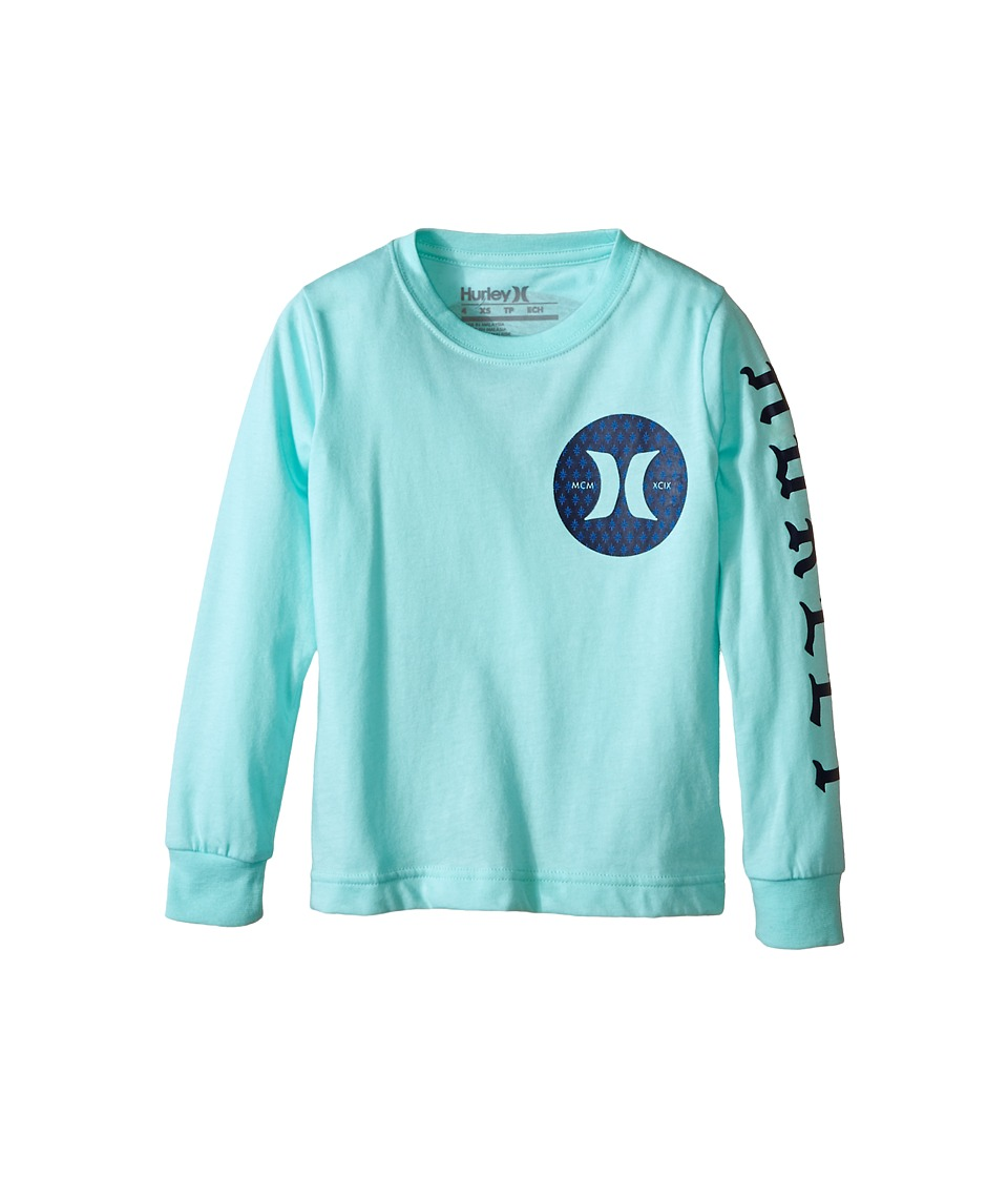Hurley Kids - Savage Long Sleeve Tee (Little Kids) (Artisan Teal) Boy