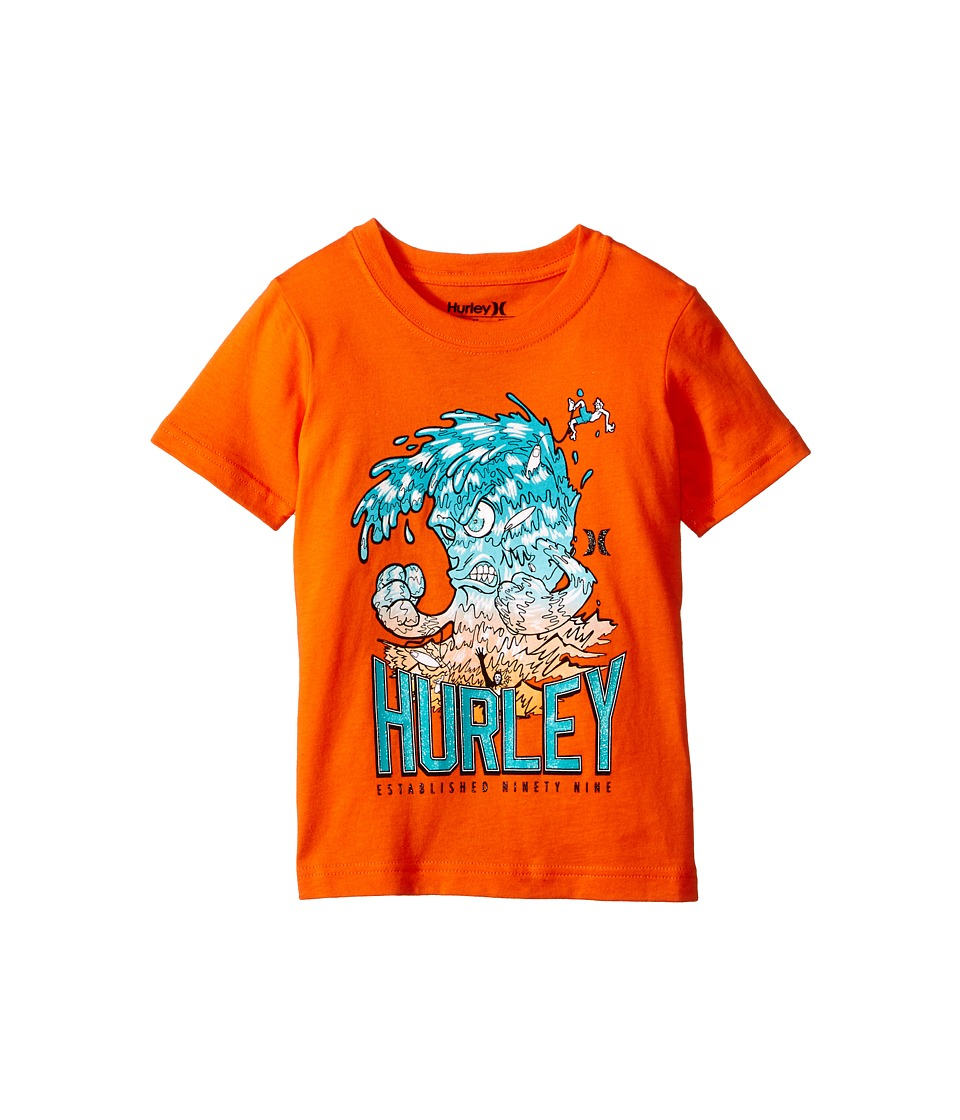 Hurley Kids - Raging Tides Short Sleeve Tee (Little Kids) (Electro Orange) Boy's T Shirt