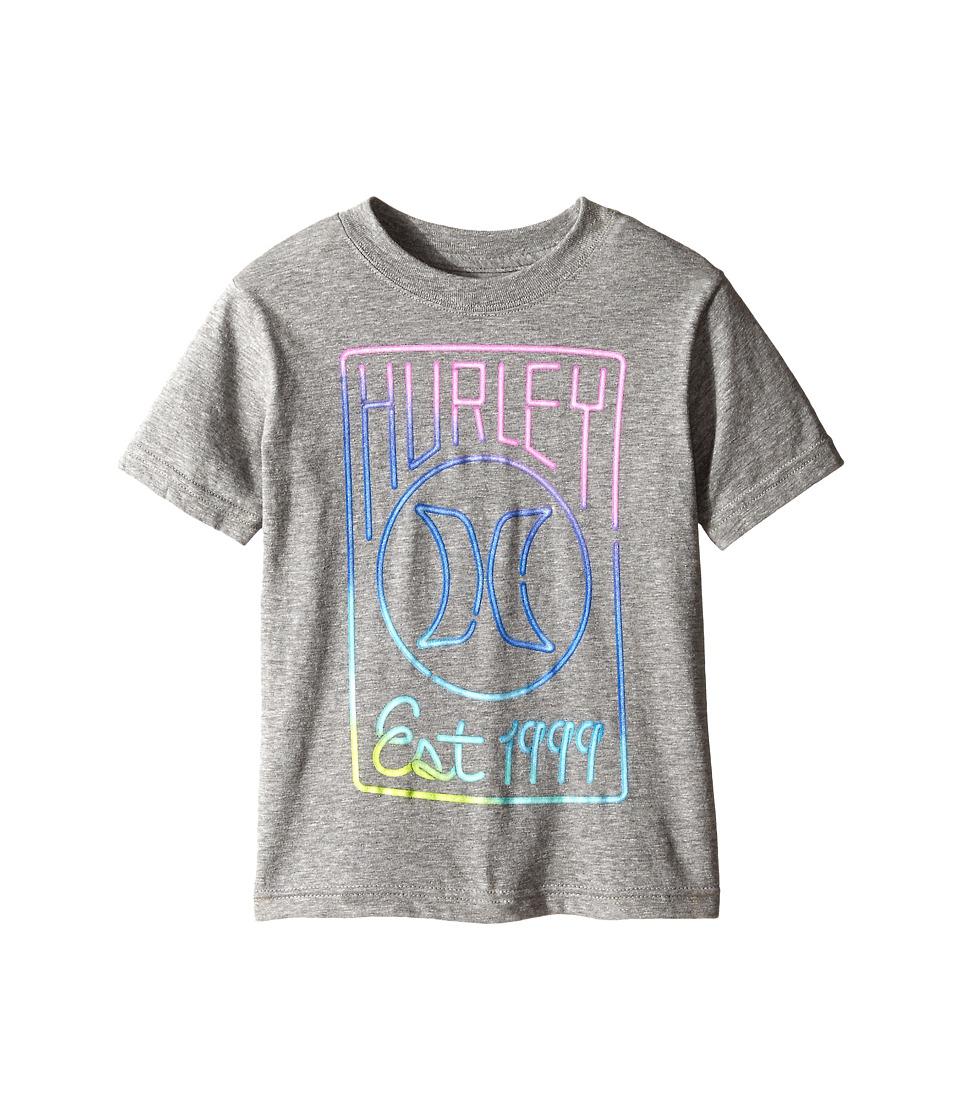 Hurley Kids - Short Sleeve Tall Tee (Little Kids) (Dark Grey Heather) Boy's T Shirt