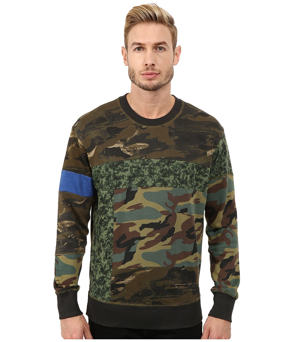 Diesel - S-Heizo Sweatshirt (Olive/Green) Men's Sweatshirt
