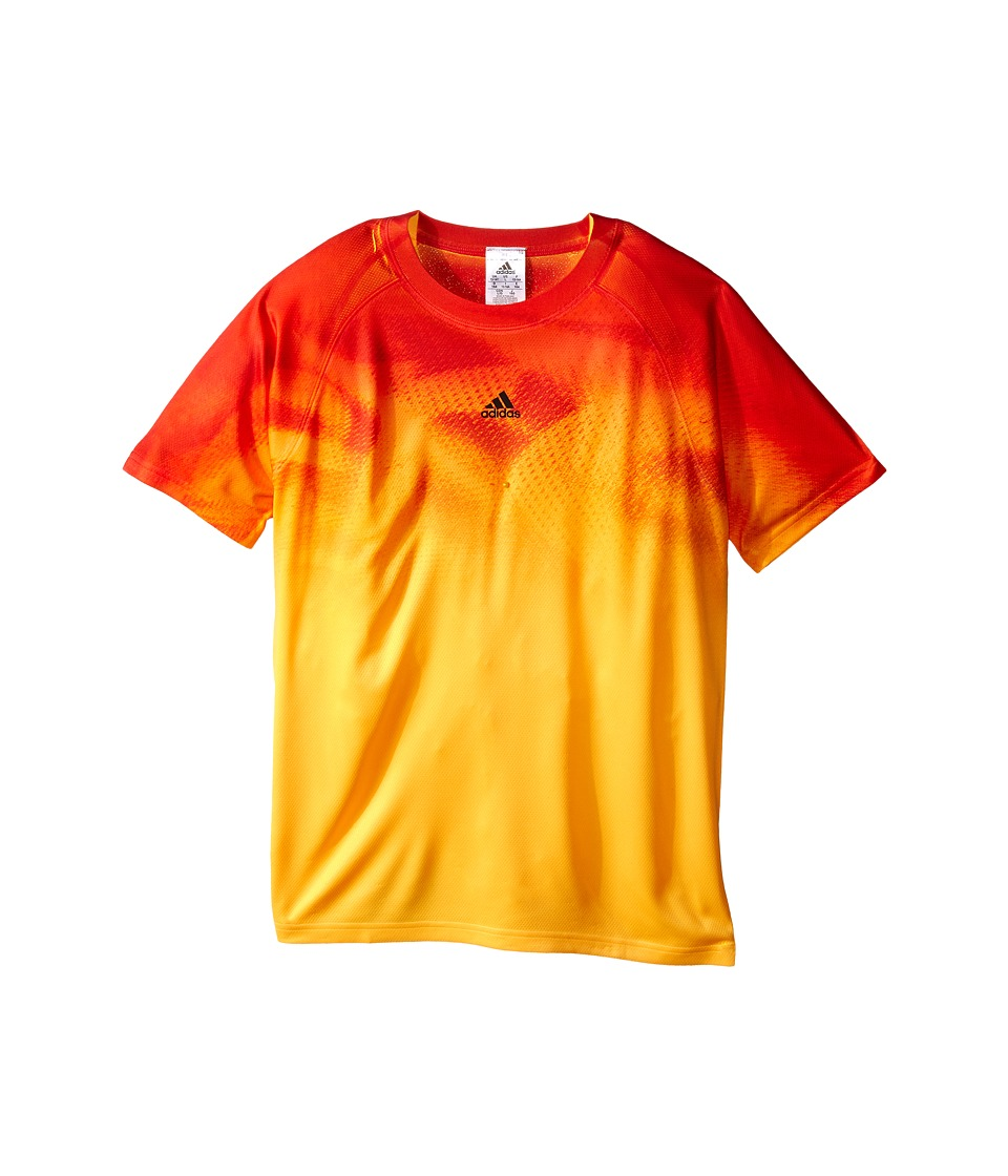 adidas Kids - Adizero Tee (Little Kids/Big Kids) (Solar Gold/Black) Boy's Short Sleeve Pullover