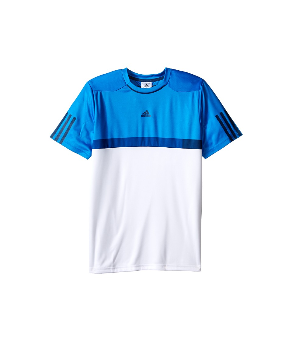 adidas Kids - BARRICADE Tee (Little Kids/Big Kids) (White/Shock Blue) Boy's T Shirt