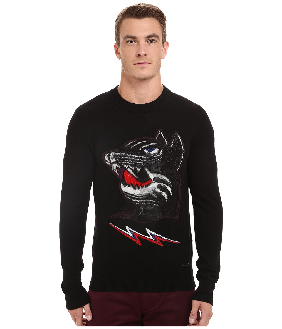 Diesel - K-Baddog Pullover (Black) Men's Clothing
