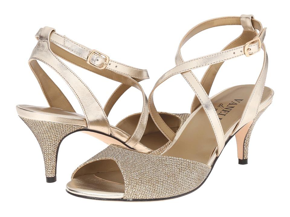 Vaneli - Lamis (Platino Ket Fabric/Platino Met Nappa/Gold Buckle) Women's 1-2 inch heel Shoes