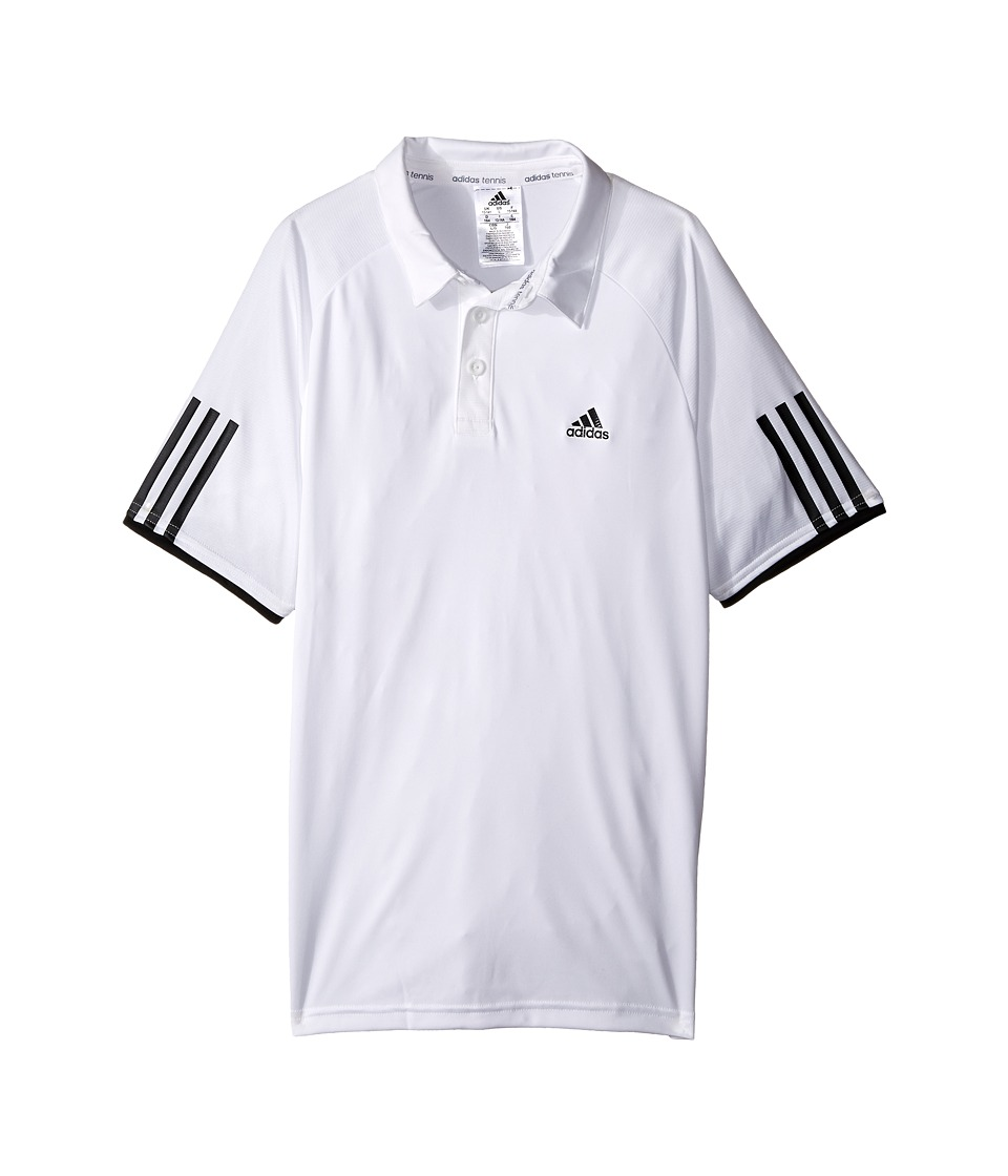 adidas Kids - Club Polo (Little Kids/Big Kids) (White/Black) Boy's Short Sleeve Pullover