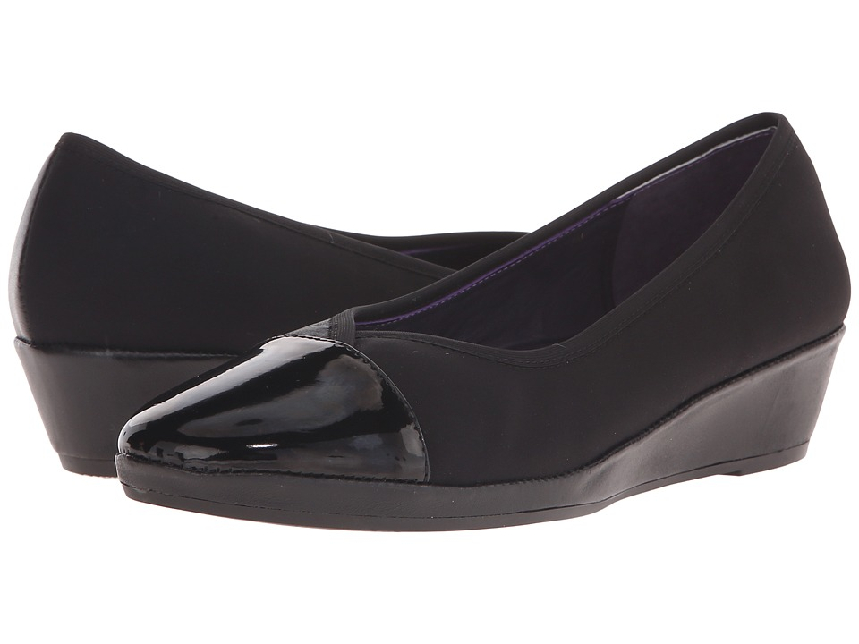 Vaneli - Naomi (Co1 Black Nappa/Black Nicole Stretch/Black Patent) Women's Flat Shoes
