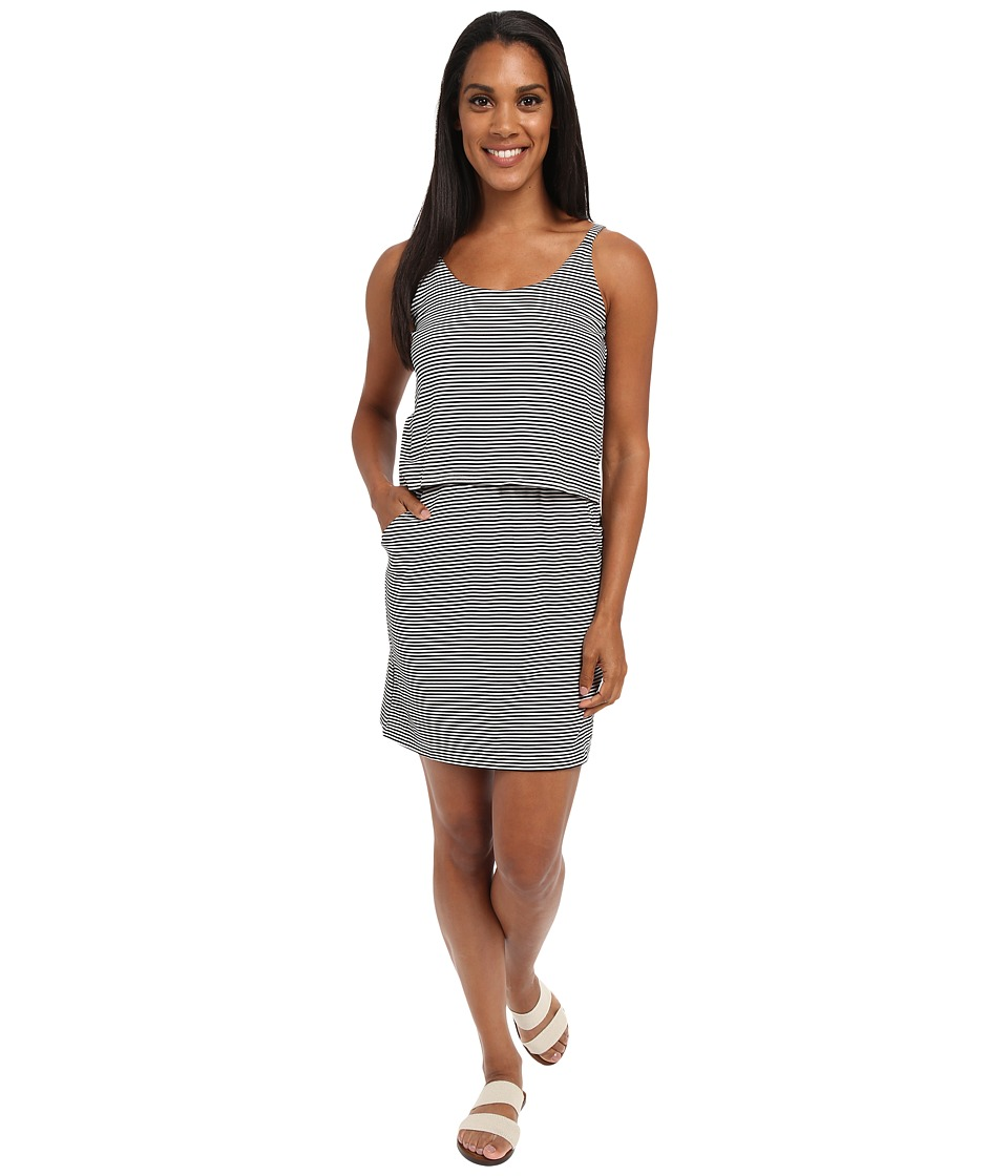 KAVU - Coco Dress (Black/White) Women's Dress