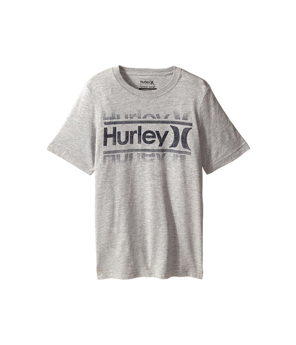 Hurley Kids - Swim Short Sleeve Tee (Big Kids) (Dark Grey Heather) Boy's T Shirt