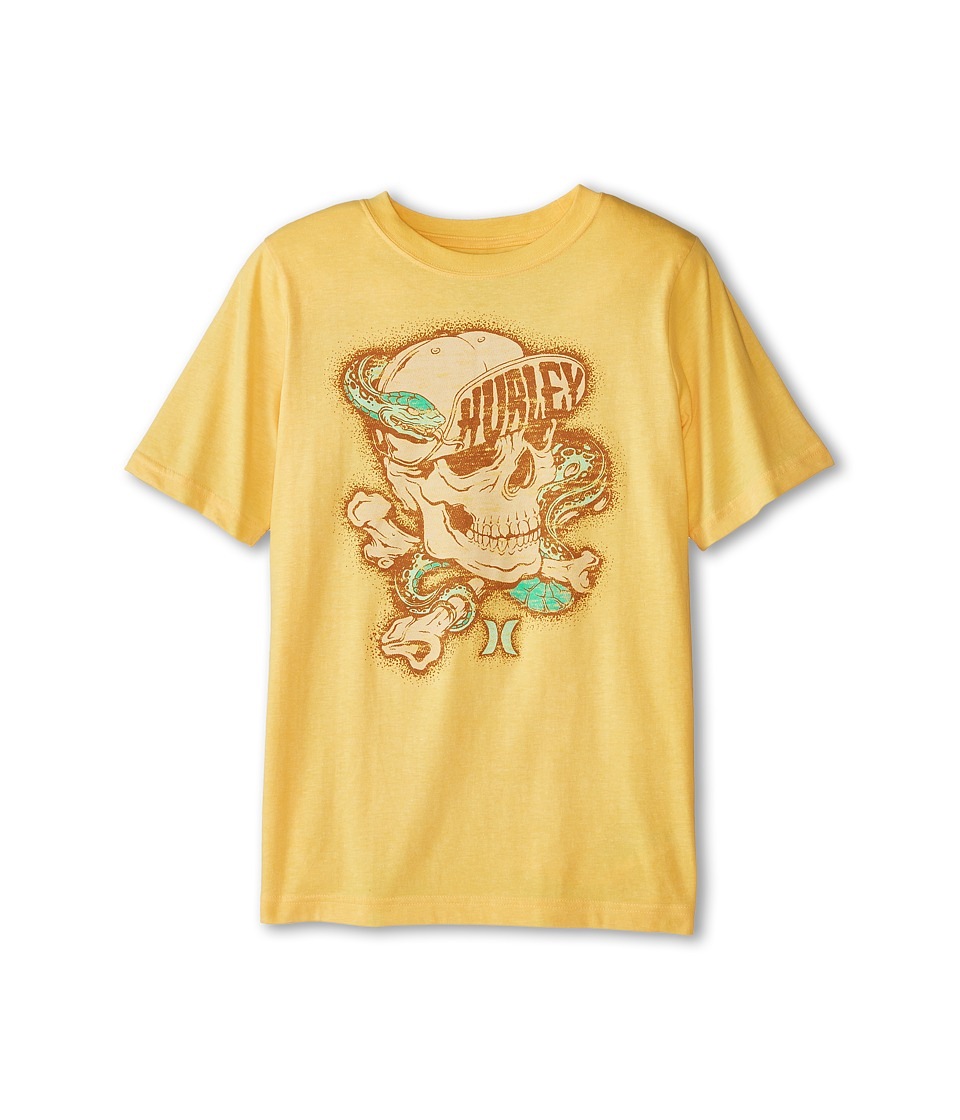 Hurley Kids - Wrapped Up Short Sleeve Tee (Big Kids) (Atomic Mango Heather) Boy