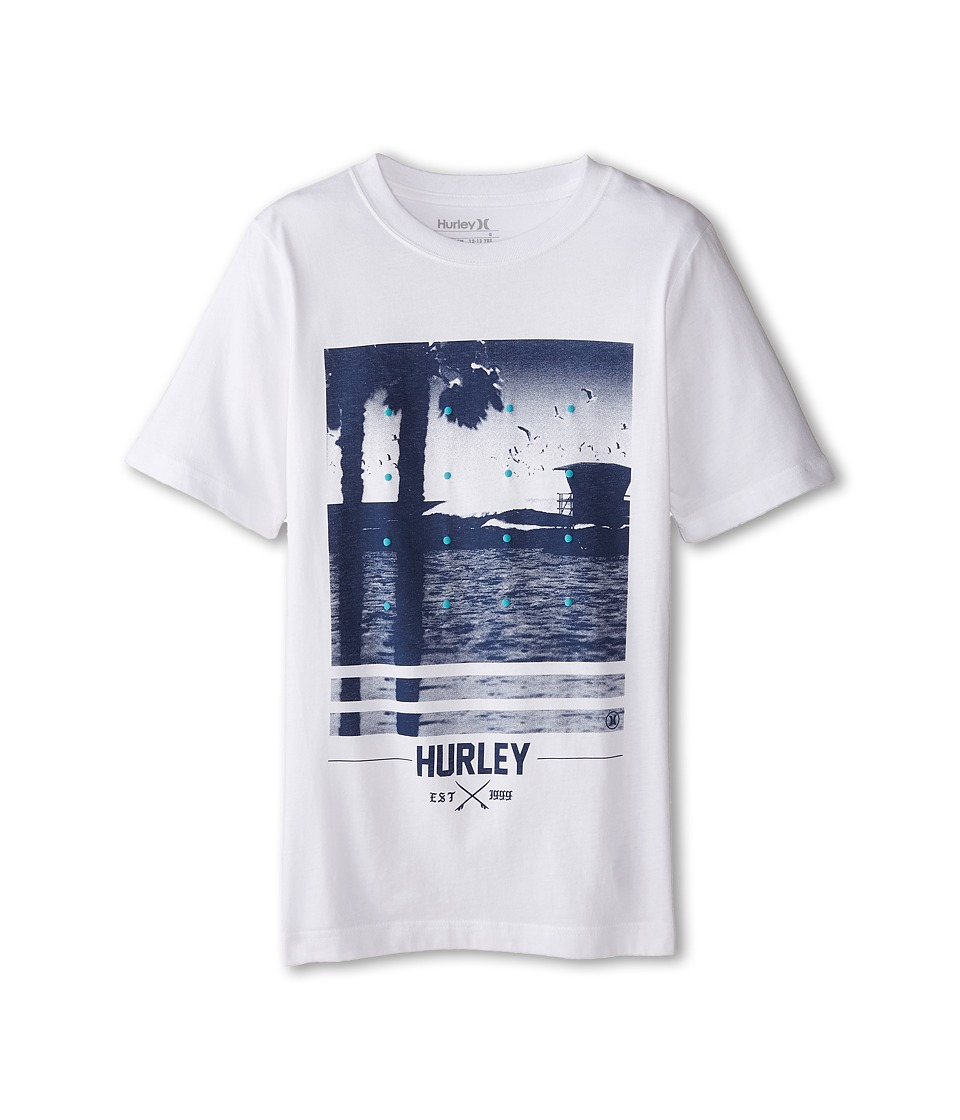 Hurley Kids - Not Going Out There Tee (Big Kids) (White) Boy's T Shirt