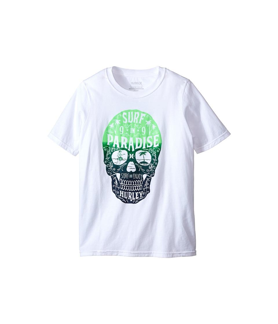 Hurley Kids - Rip Tee (Big Kids) (White) Boy's T Shirt