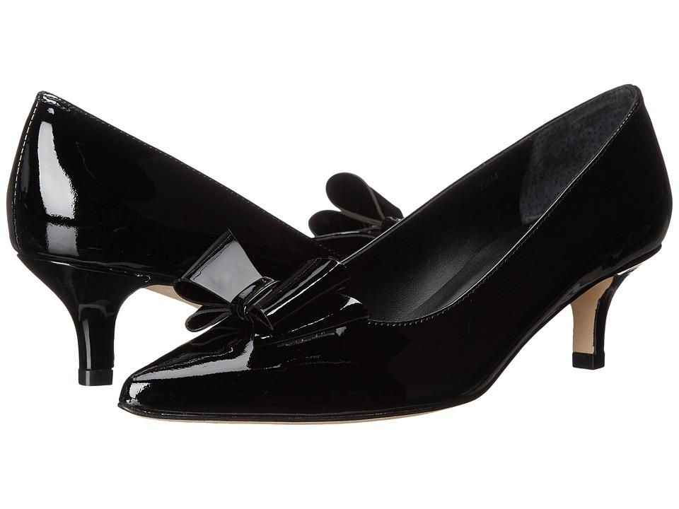 Vaneli - Taren (Black Smack Patent) Women's Wedge Shoes