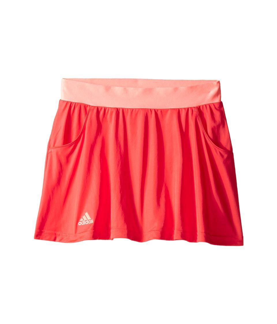 adidas Kids - Club Skort (Little Kids/Big Kids) (Shock Red/Sun Glow) Girl's Skort