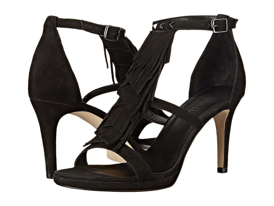 Vaneli - Timar (Black Suede/Gunmetal Studs/Buckle) High Heels