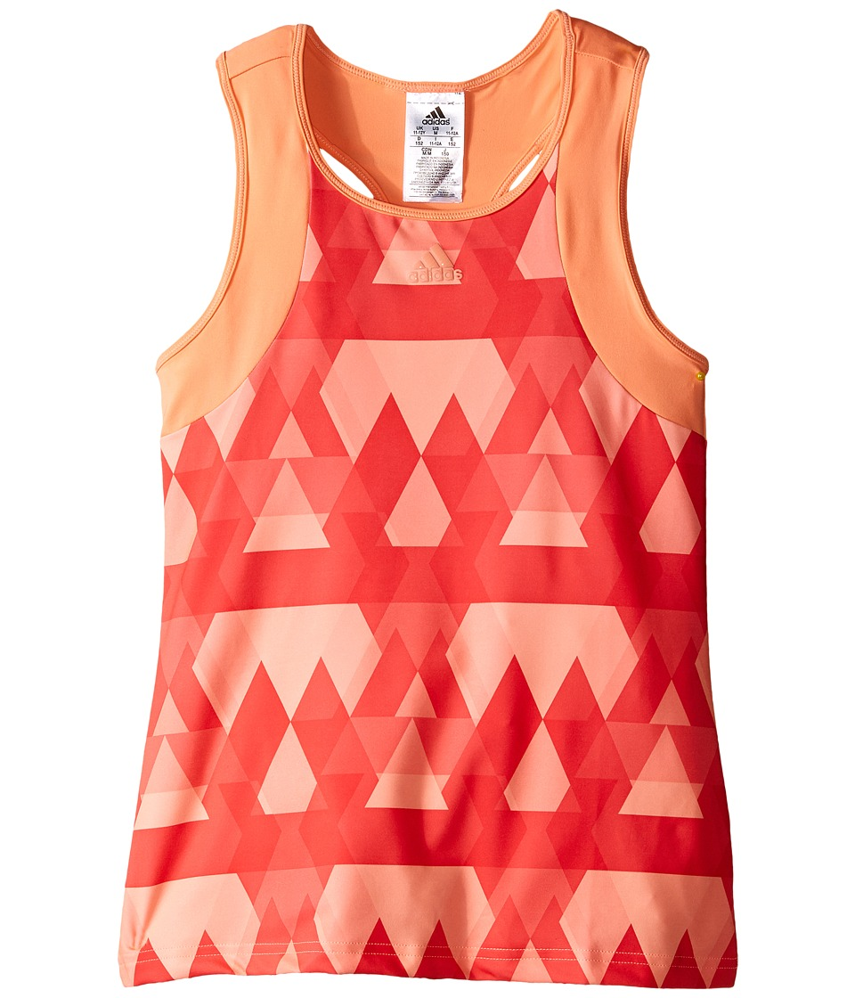 adidas Kids - Club Trend Tank Top (Little Kids/Big Kids) (Sun Glow) Girl's Sleeveless