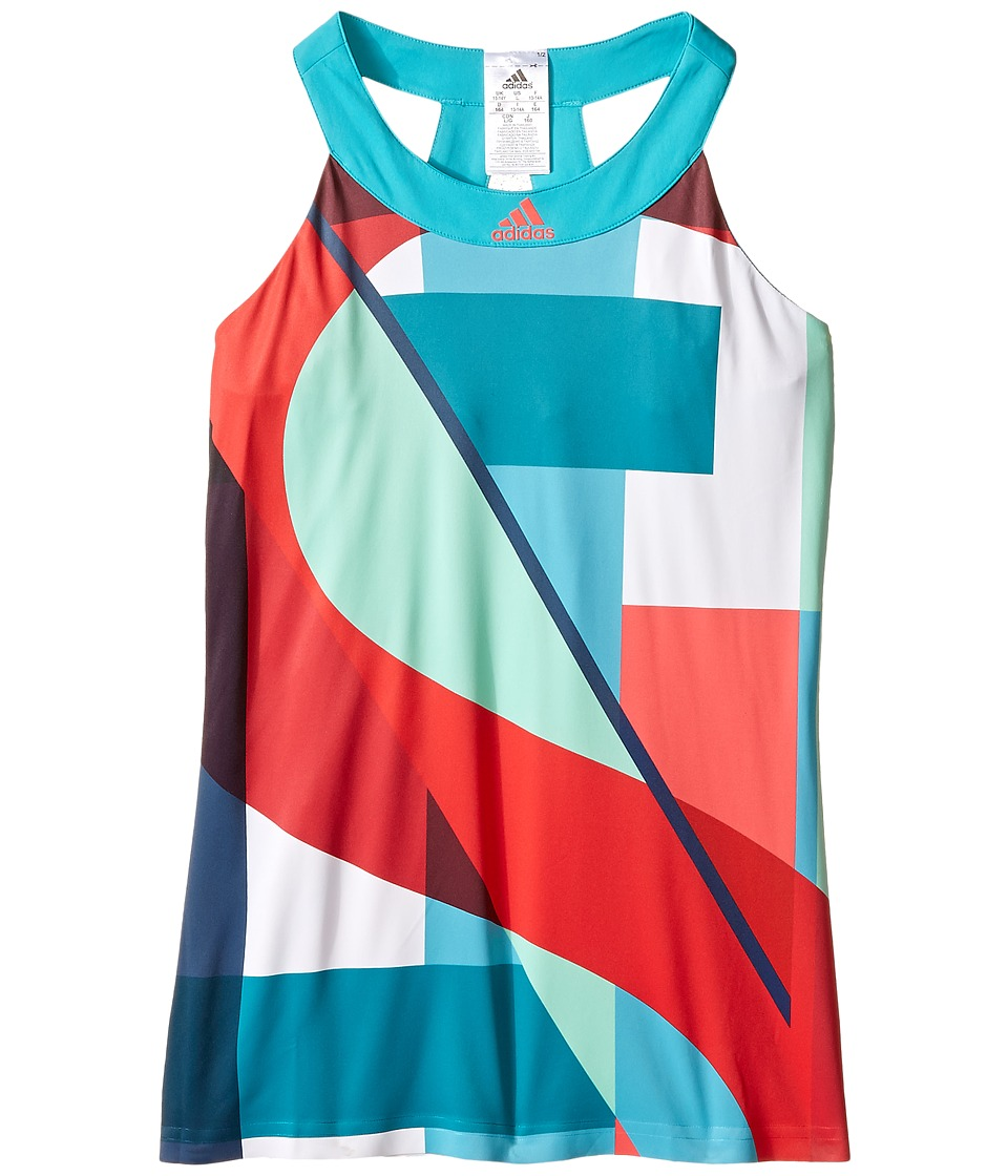 adidas Kids - Adizero Tank Top (Little Kids/Big Kids) (Shock Green/Shock Red) Girl's Sleeveless