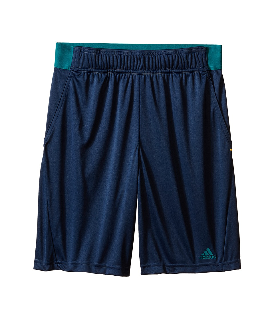 adidas Kids - Bar. Shorts (Little Kids/Big Kids) (Mineral Blue/EQT Green) Boy's Shorts