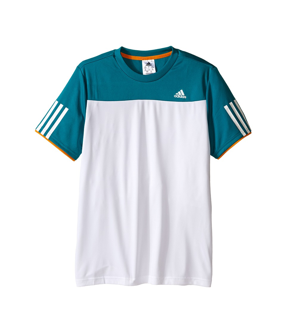 adidas Kids - Club Tee (Little Kids/Big Kids) (White/EQT Green) Boy's Short Sleeve Pullover