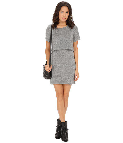 MINKPINK - Revolution Layered Tee (Grey) Women's Dress